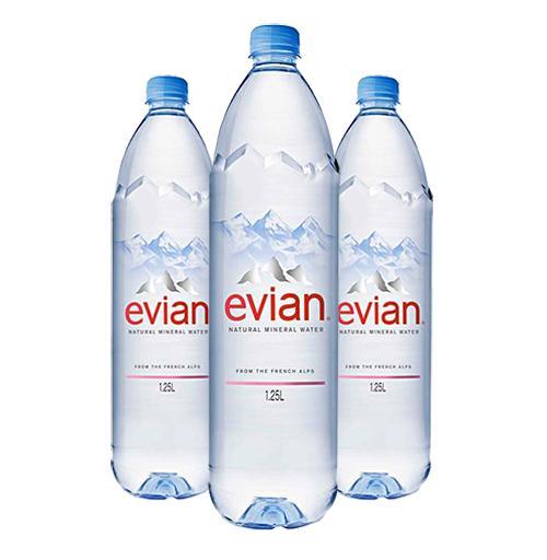 Nước khoáng Evian chai 1,25L