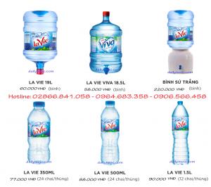 Bảng giá nước uống Lavie bình 19l và chai nhỏ