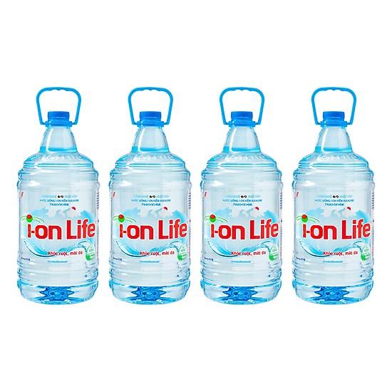 Nước ion life 4l  thùng 4 chai thích hợp đi dã ngoại, bệnh viện..