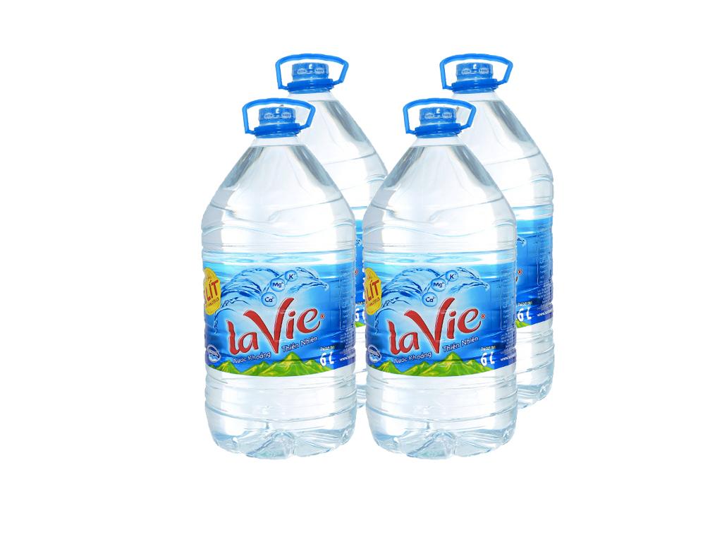 Bình nước Lavie 6l có giá 50.000đ/thùng 2chai