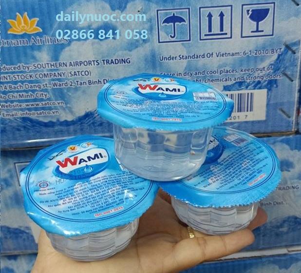 Nước suối Wami ly 110ml tiện dụng, phù hợp cho đám tiệc