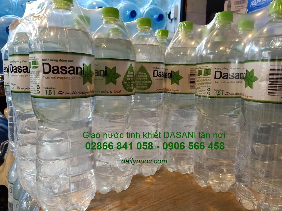 Nước suối Dasani 350ml, 1 lốc 6 chai, 1 thùng 4 lốc